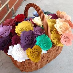 Lots of color!  I can make flowers for you in dozens of beautiful colors. #handmade #feltflowers #etsy