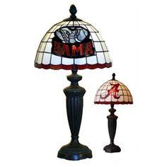 University of Alabama Crimson Tide Bama Stained Glass Desk Lamp