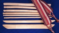 Wooden Backstrap loom -- hand-carved by Mayans in the western highlands of Guatemala . This is a typical weaving loom that the Mayan women use Loom Weaving, Hand Weaving, Trade Federation, Fair Trade, Hand Carved, Artisan, Carving, Highlands, Etsy