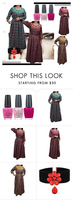 """""""VALENTINE WARM NIGHT GOWN"""" by lavanyas-trendzs ❤ liked on Polyvore featuring OPI"""
