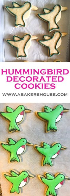 Hummingbird Decorated Cookies | A Baker's House
