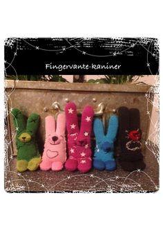 Kaniner gjorda av barns gamla fingervantar. Barn, Warehouse, Barns, Shed