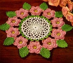 The Rose Crochet Doily Pattern Retyped Large by ToadHollowPresents