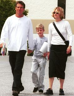 Dennis Quaid And Meg Ryan with their son Jack Henry (b. Apr 1992). He's also an actor now.