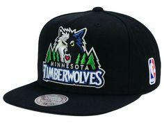 best service 67676 7d36d Minnesota Timberwolves Mitchell and Ness NBA XL Logo Snapback Cap