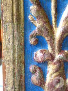 Pèrdues d'or i tremp blau reintegrats amb aquarel·la amb la tècnica del tratteggio. Sculpture Painting, Painting Techniques, Art Conservation, Picture Frames, Restoration, Fine Art, Antiquities, Devil, Animals