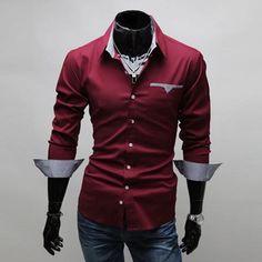 Item Type: ShirtsGender: MenPattern Type: SolidSleeve Length: FullShirts Type: Casual ShirtsCollar: Turn-down CollarStyle: Slim FitFabric Type: BroadclothMateri