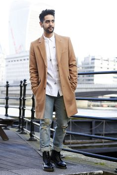 In love with my new camel coat. I will be wearing this non stop this year! Over coats are a key item for your 2015 menswear wardrobe. I like to team tailored items with ripped jeans for a formal twist.