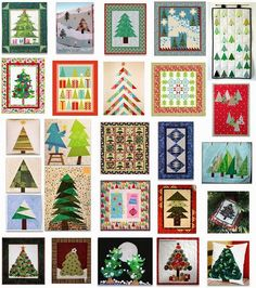 More than 25 free patterns for Christmas Tree Quilts.  Quilt Inspiration: Free pattern day part 1. Updated November 18, 2013.: