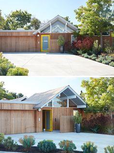 Dieses Mitte des Jahrhunderts moderne Eichler-Haus in Kalifornien erhielt einen Zeitgenossen umgestalten