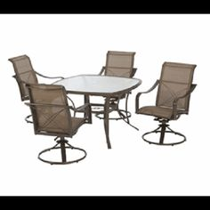 This Hampton Bay Grand Bank 5 Piece Outdoor Patio Dining Set has a decorative X-Back detailing and subtle curves, the Grand Bank collection is sure to exceed your expectation of contemporary design.