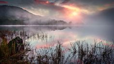 Misty Sunrise on the Loch by John Thomson