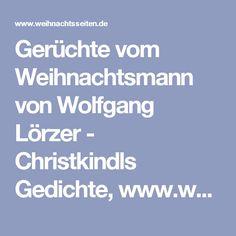 Gerüchte vom Weihnachtsmann von Wolfgang Lörzer - Christkindls Gedichte, www.weihnachtsseiten.de
