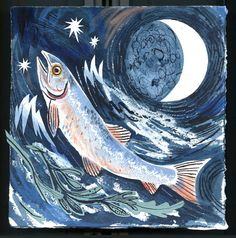 Salar the Salmon | Little Toller Books - cover art by Mark Hearld