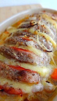 rôti porc fromage bacon