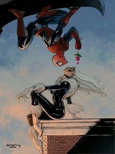 Comics Love, Bd Comics, Marvel Comics Art, Comics Girls, Marvel Heroes, Black Spiderman, Spiderman Girl, Amazing Spiderman, Spiderman And Blackcat
