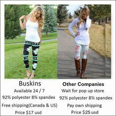 Still free shipping, still the same awesome leggings  https://awleggings.mybuskins.com