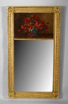 French Empire mirror trumeau gilt
