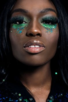 Eco and Bio Glitter inspired looks for festivals and parties! | 38 Colours in Fine, Standard, Chunky and Super Chunky | Shop now for biodegradable glitters.