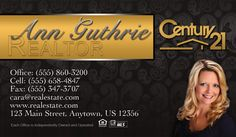 Century 21 real estate cards