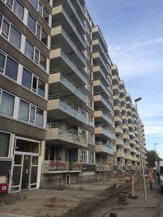 De mooie nieuwe balkons op Ankaradreef Utrecht voor Portaal.