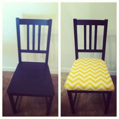 Ikea Stefan Chairs - how to make seat covers.