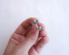Ethnic Sun Sterling Silver Stud Earrings by AlejandraGiannoni