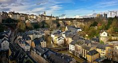 Luxemborg city, Luxemborg. Lived here for part of year in a wonderful converted glove factory in about the middle of the picture. Wonderful small country!