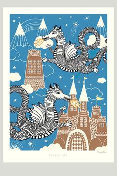 Dragon sky -juliste
