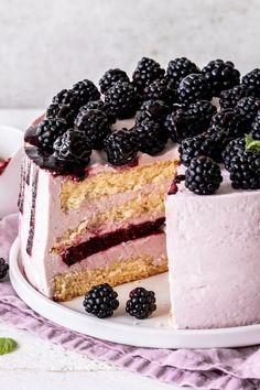 Paleo Diet, Vanilla Cake, Blackberry, Tiramisu, Mascarpone Creme, Cheesecake, Food And Drink, Sweets, Fruit
