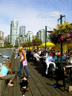 """Granville Island, Vancouver by oct2gon, via Flickr"""" I sat here """" last May... Vancouver Travel, Downtown Vancouver, Vancouver Island, Best Places To Travel, Places To Go, Vancouver Wallpaper, Toronto, Granville Island, Visit Canada"""