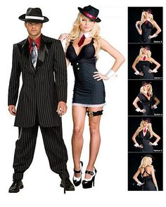 gangster wrap five in one costume womens couples halloween costumes - Halloween Mobster Costumes