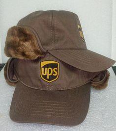 2b828481a28da NEW OEM Twin Hill UPS Hat Brown Fur Ear Flaps UPS Winter Uniform Hat 58cm  MED  fashion  clothing  shoes  accessories  uniformsworkclothing  hats  (ebay link)