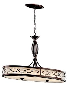 Kichler 42053MIZ Punctuation Small Oval 4-light Kitchen Island Chandelier Fixture - KIC-42053MIZ