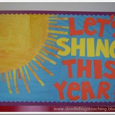 Back-to-School Bulletin Board...i could use my rainbow with this ;)