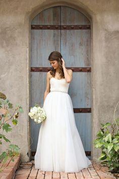 Beautiful, simple wedding dress