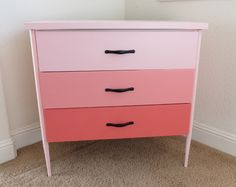 Coral Ombre Nightstand