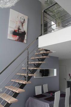 GARDE CORPS ET RAMBARDE : Couloir, entrée, escaliers industriels par metal brut