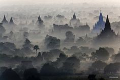 The 2200 pagodas of Bagan in Myanmar (former Burma) belong to the most impresives archeological sites on earth. Although the site was nominated as a UNESCO cultural heritage in 2002 the restoration process is still ongoing and very difficult.
