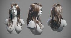 ArtStation - Hair Studies, mike fudge