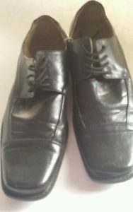 Salvatori Men's Leather Black Dress Shoes with Laces Size 8 Styled in Italy | eBay