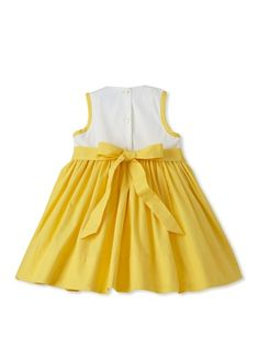 81% OFF Baby CZ Girl's Valetina Ruffled Dress (White//Yellow)