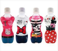 ボディウォーター/ディズニー&キティ Layered Drinks, Chocolate Pancakes, Plastic Design, Water Bottle Design, Juice Drinks, Pet Bottle, Vodka Bottle, Hello Kitty, Packaging