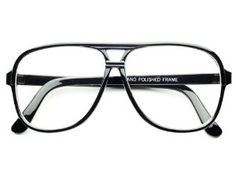 True Retro Vintage Look Clear Lens Aviator Glasses Eyeglasses (Black) by DC-STORE. $9.95. Hand Polished Frame. Frame Width:  135mm. Made From Quality Materials. Frame Height: 50mm. True Retro Look. True retro style clear lens aviator glasses in black or tortoise frame. Trendy and hip look. Great quality!