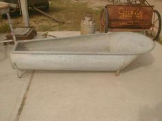 I have one of these, mine is about 122 years old and in mint condition - 6 foot metal antique cowboy bathtub