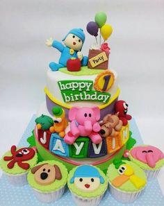 Pocoyo Cake for my little Didi! @Maria Canavello Mrasek Canavello Mrasek João Costa