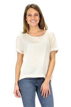 American Vintage - T-Shirts - Abbigliamento - T-Shirt in viscosa con collo ampio ed asimmetrica sul fondo.La nostra modella indossa la taglia /EU S. - NOUG - € 65.00