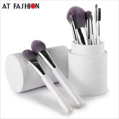 makeup tutorial New Arrival Professional Makeup Brush Set Cosmetics Brushes 8pcs High Quality Top Synthetic Hair With Cylinder Holder Brush Set *** Locate the offer on AliExpress website simply by clicking the image