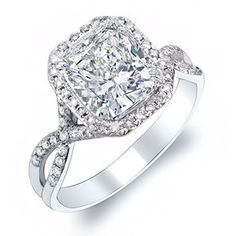 cushion cut with infinity band