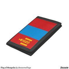 Flag of Mongolia Tri-fold Wallets